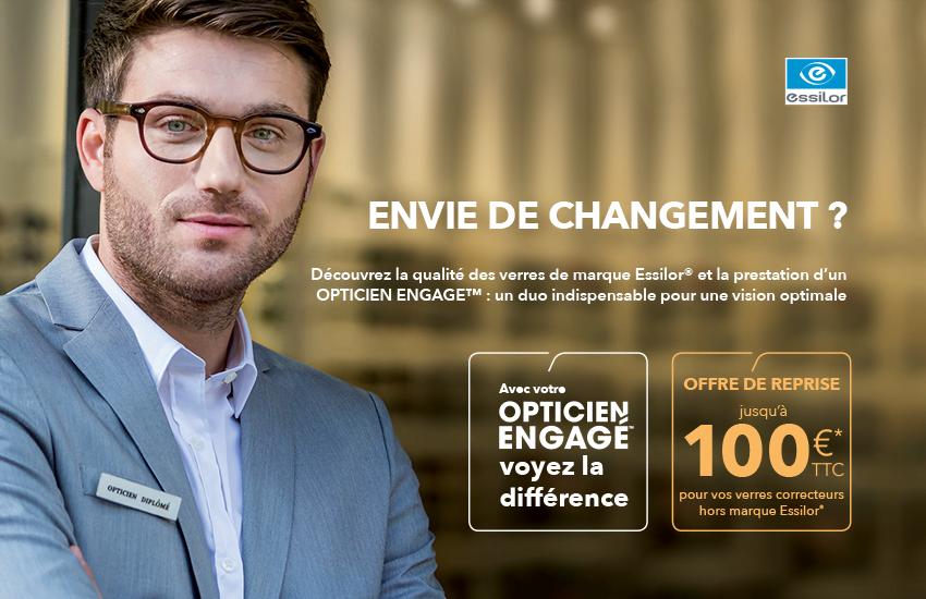 OPTICIEN ENGAGE ESSILOR - Optique Grand Place Bailleul 08216a3d3e1b