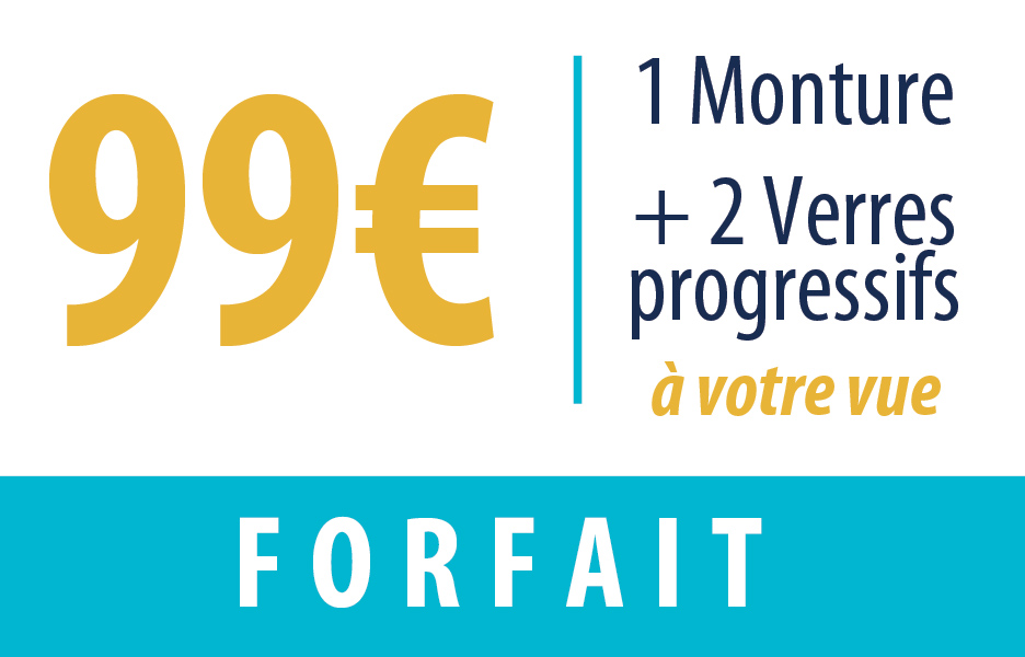 d12b4c14d2 FORFAIT VERRES PROGRESSIFS + MONTURE 99€ - Optique Grand Place Bailleul