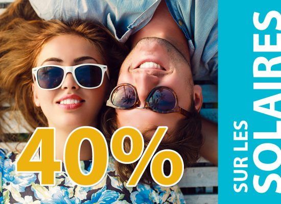 promotion 40% sur les solaires
